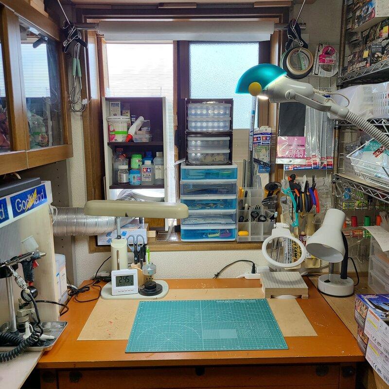自作塗装ブース改良後の作業スペース