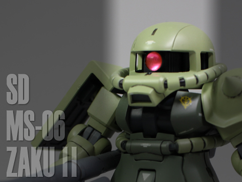 SD MS-06 量産型ザク 完成